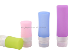 TA59304 Creative Cylinder-shaped Rubber Silicone Squeeze Travel Bottles