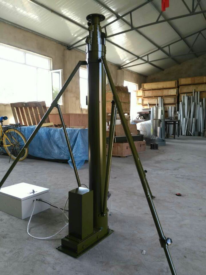 30foot 200kg headload electric winch mast , mechanical telescopic tower , telescoping pole