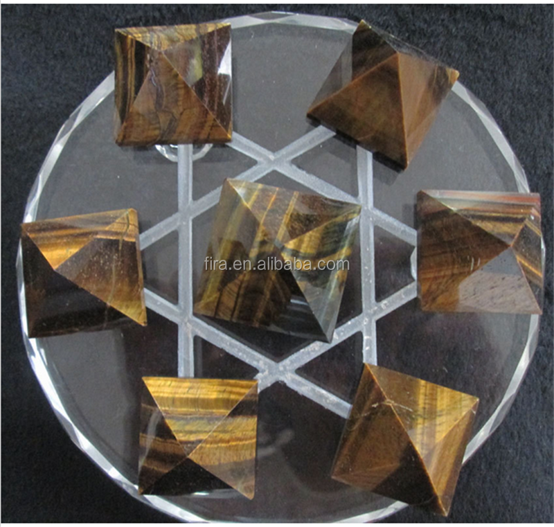 100% Natural Tiger Eye Quartz Crystal Pyramid Healing colorful 7 kinds Crystal Pyramids Wholesale piramides de cuarzo gift