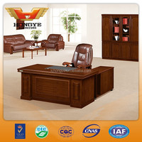 Office furniture antique wood MDF office desk HY-D6718