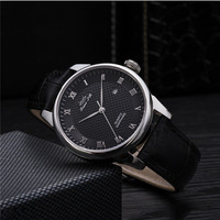 Black white face custom printing mens watches made in china