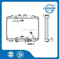 Brazing radiator /copper fin tube radiator /mechanical radiator For Hyundai CORE SIZE :400*568*32/26 OEM :25300-43800/20