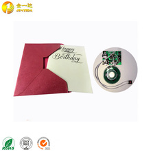 Beautiful electronic prank birthday greeting card with musicial function