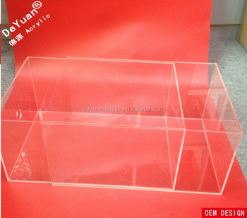 Transparent acrylic nike shoe box with drawer
