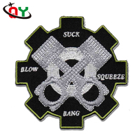 best selling 2D embroidered logo professional OEM ODM badge custom embroidery patch for clothing accessory