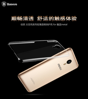 Case For Meizu Metal,BASEUS Sky Series Ultra Thin Transparent PC Back Case Cover For Meizu Metal PB-059
