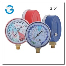 "High quality 2.5"" 63mm bottom connection freon gauge and manifold"