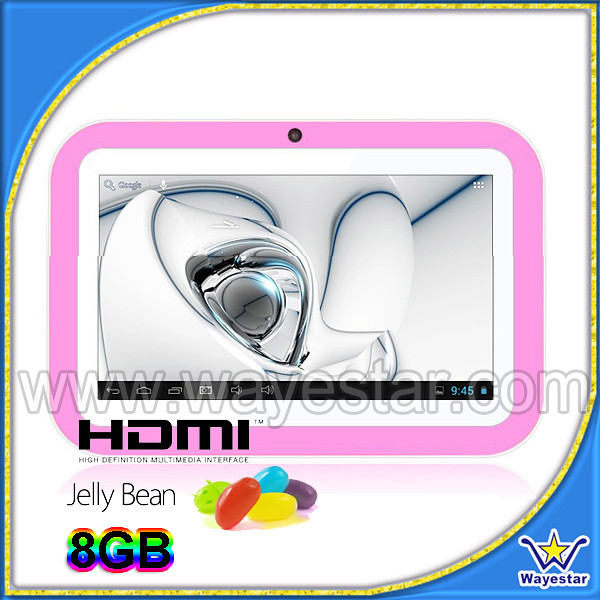 Android 4.1Tablet 7 inch 1024*600 Cute Helpful Tablet for Baby 8G Rom