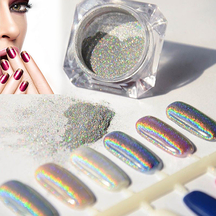 Mix Color Glitter Nail Holographic Powder For Gel Polish - Buy ...