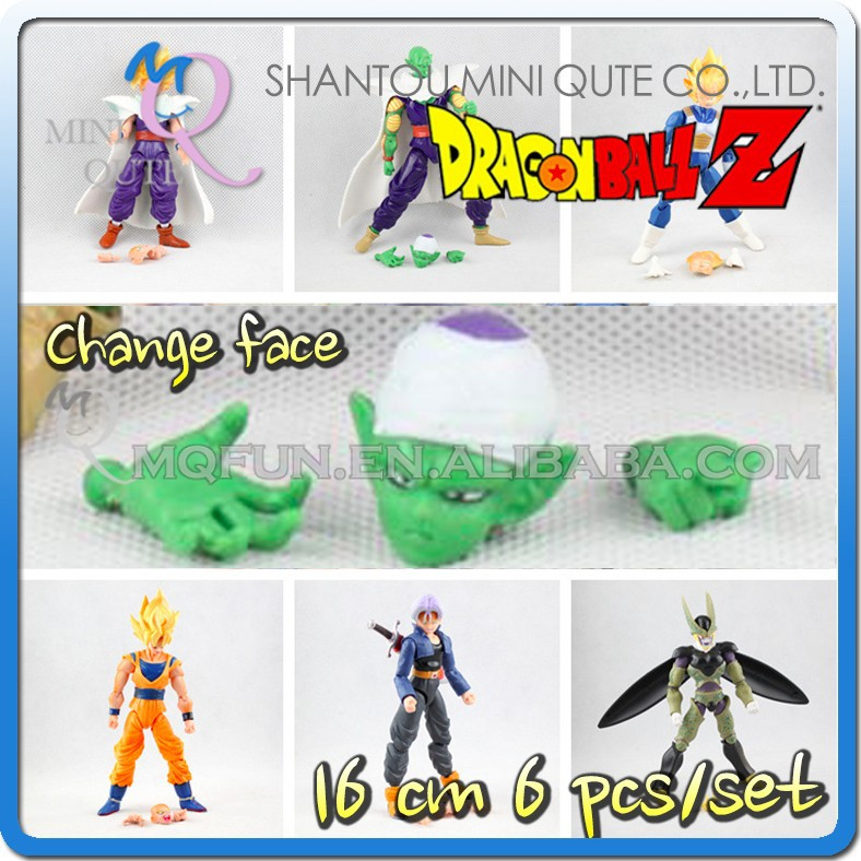 MINI QUTE 16 cm changing face goku dragon ball z action figures anime figures/scale model brinquedos boys gift NO.MQ 108