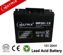 High quality 12v 20ah batteries for electric scooter and wheel chair