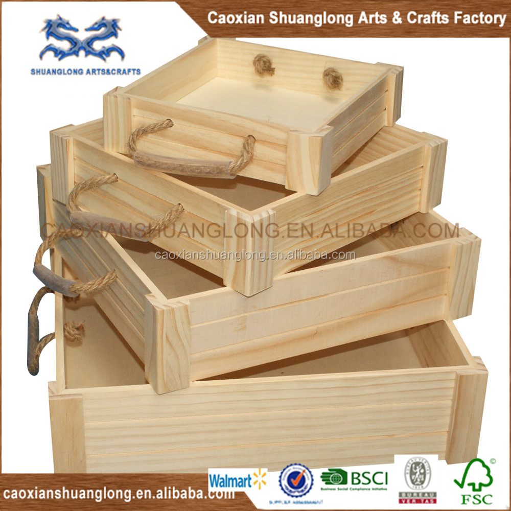Wholesale cheap wooden fruit crates for sale online buy for Vintage crates cheap