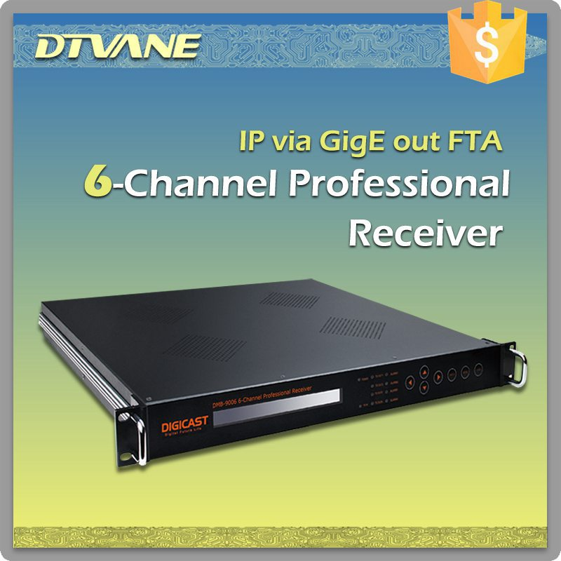(DMB-9006) IPTV equipment 6 channels Tuner Professional Receiver with 6*Tuner(DVB-S/S2/T/T2/C, ISDB-T/Tb) + 2*TS
