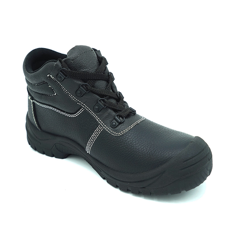 Steel toe safety shoes PPE footwear leather shoes for man work boots anti samshing
