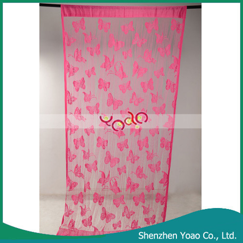 New Design Butterfly Pattern Cotton Door Curtain