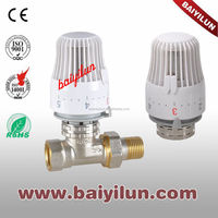 CE brass Thermostatic Radiator straight valve/Liquid sensor of control flow valve head