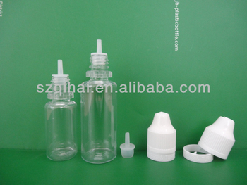 10ml/20ml/30ml childproof and tamper evident dropper bottles with long thin tip and triangle sign JB-239
