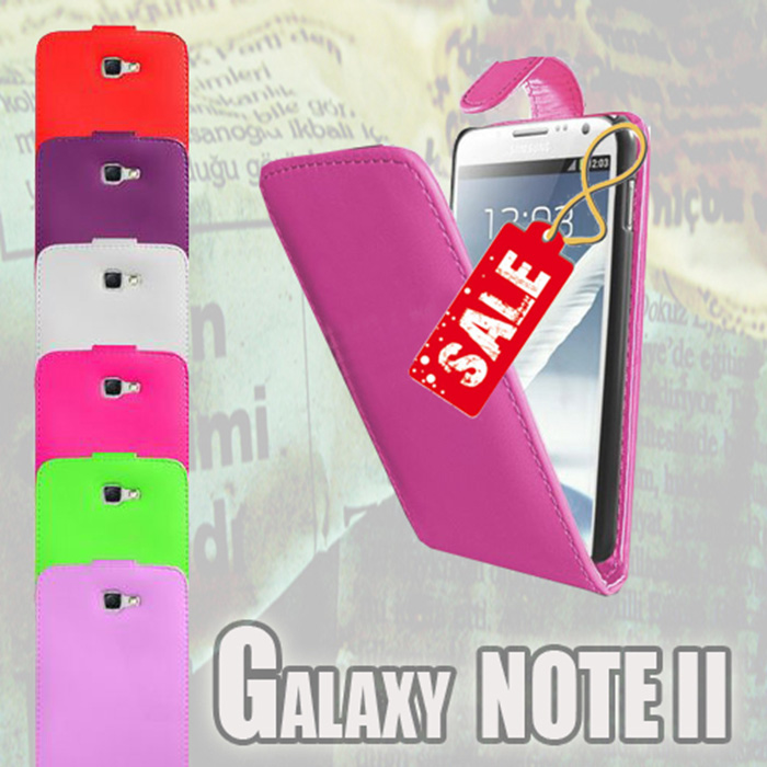 Flip Leather Case Cover Skin Bumper for Samsung Galaxy Note 2 II N7100