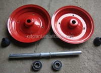 16 tool cart wheel general metal and plastic rim with ball bearing or needle bearing 4.00-8