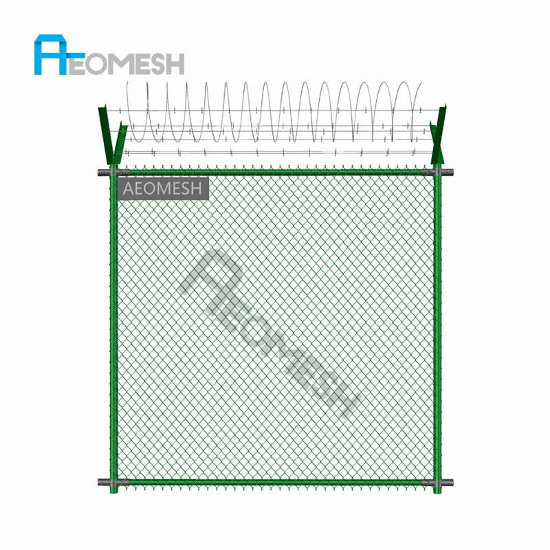 Made in Guangzhou Professional Factory Razor wire and Barbed wire V-top Chain link fence