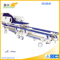 ISO CE Aluminum / Stainless Steel / ABS Patient Transfer Bed