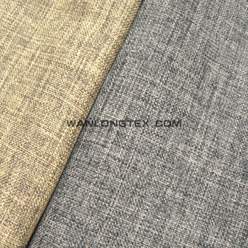 100% polyester linen fabric upholstery