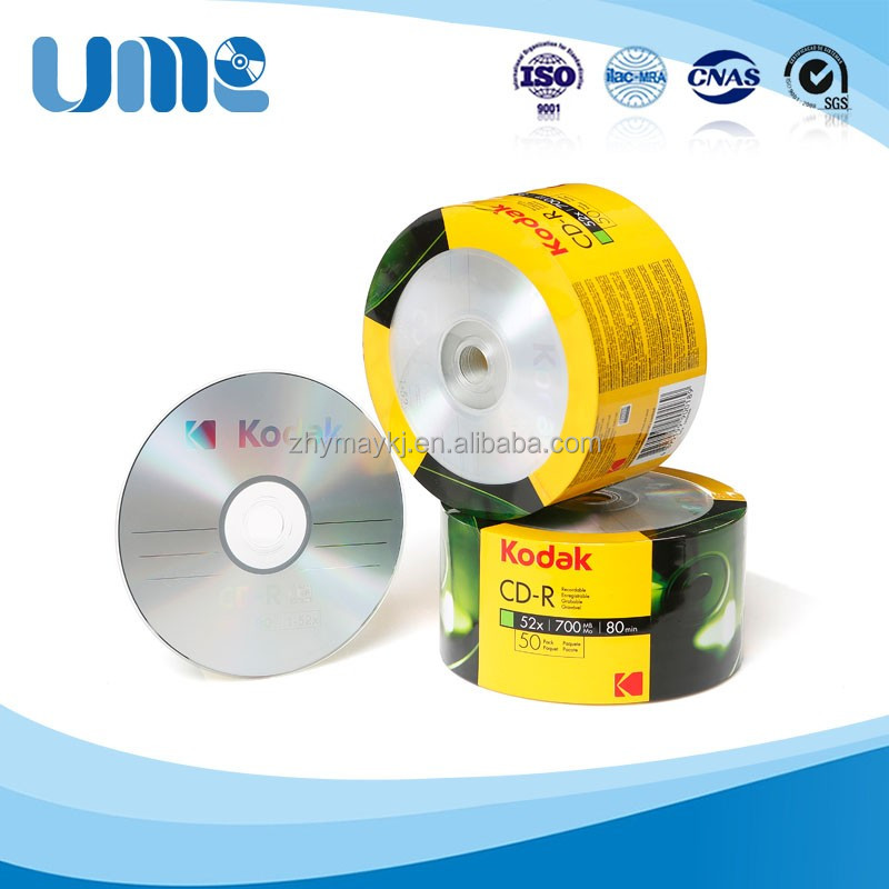 Factory price made in Henan China 50/100 bluk pack blank CD-R lightscribe