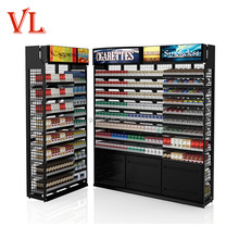 High quality wood metal cigarette display unit stand cabinet