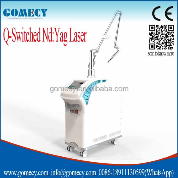 high quality laser lamp nd yag remove dark spots on the face/color pigment tattoo removal laser equipment