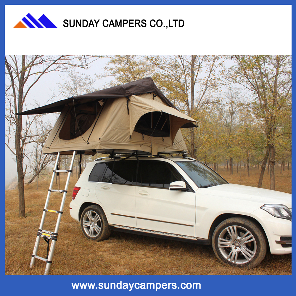 High quality 2 person canvas camping tent outdoor roof top tent for sale