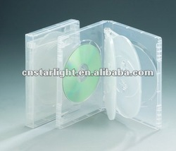 22mm 6 Discs DVD Case super Clear transparent