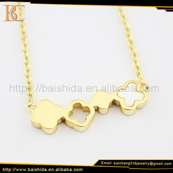 stainless steel pendant gold product 14k flower woman jewelry