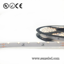 UL Listed Waterproof 18LED 216LM 16.4FT Roll 80RA CRI 2.16W Per Foot 24V Warm White 2700K 3014 flexilbe led strip side view