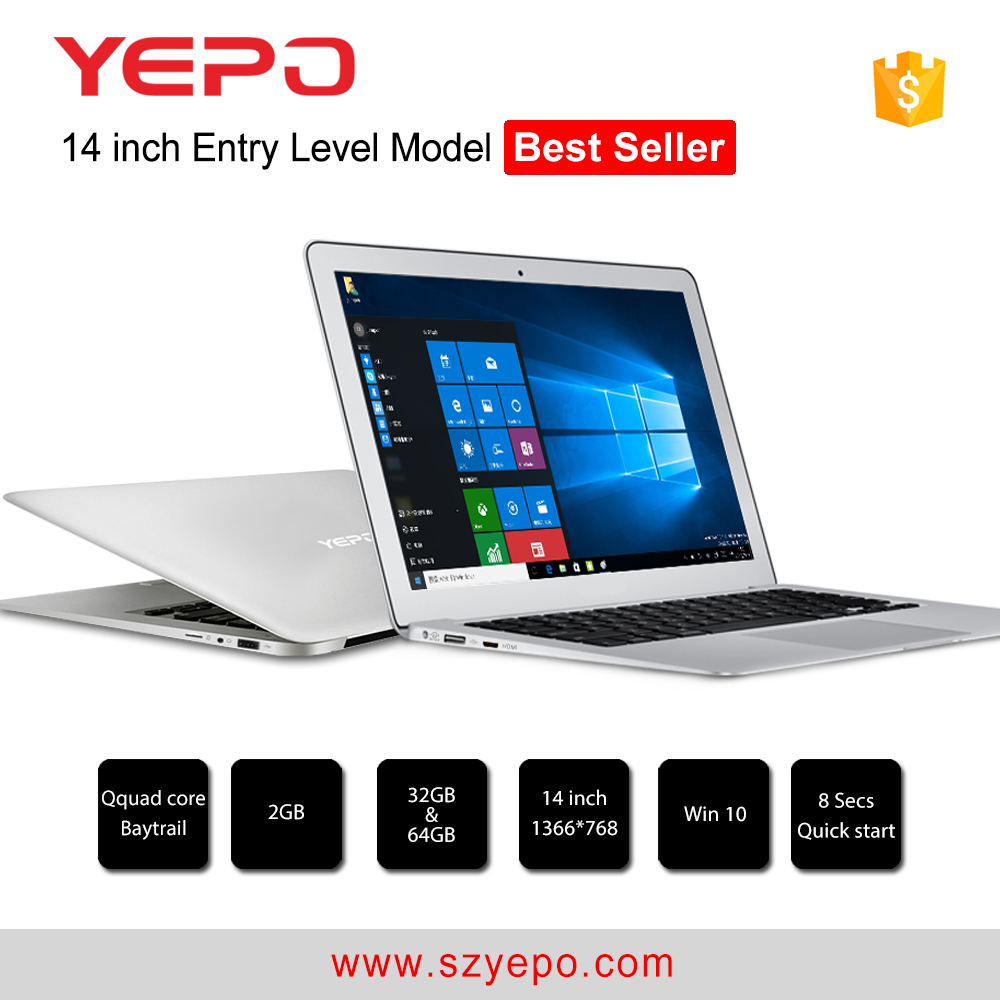 2017 best selling YEPO 737T <strong>14</strong>'' intel 2g+32gb laptop pc roll top laptop price