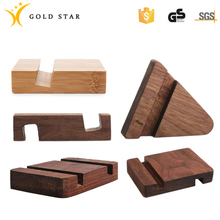 Creativity Square Solid Wood Mobile Phone Base