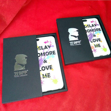 Quality Black Kraft Paper Slide Open Drawer Type Gift Boxes Packaging for iphone6 7 Plus Case