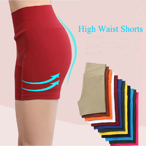 Korean Fashion Wild Cotton Woven High Waist Pants Anti Emptied Security Shorts 303