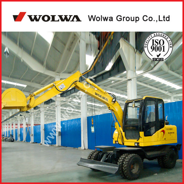 5.8 Ton China made wolwa brand mini excavator samsung excavator parts
