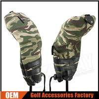 Camouflage Golf Club Head Covers With Spring Loaded Plastic Buckle