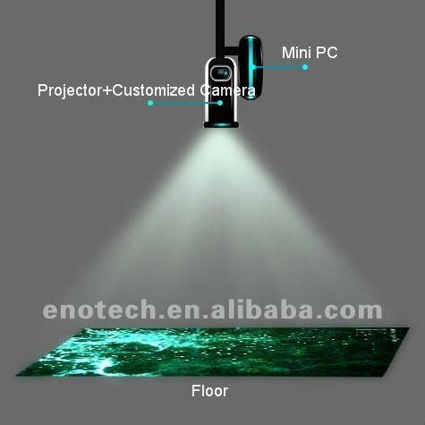 magic dance floor/interactive floor projection/ interactive floor