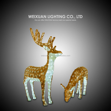 Customized decorative outdoor motif lighted christmas deer led holiday projector light