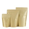 Online order wholesale packaging ziplock stand up brown bags recycled kraft paper bag