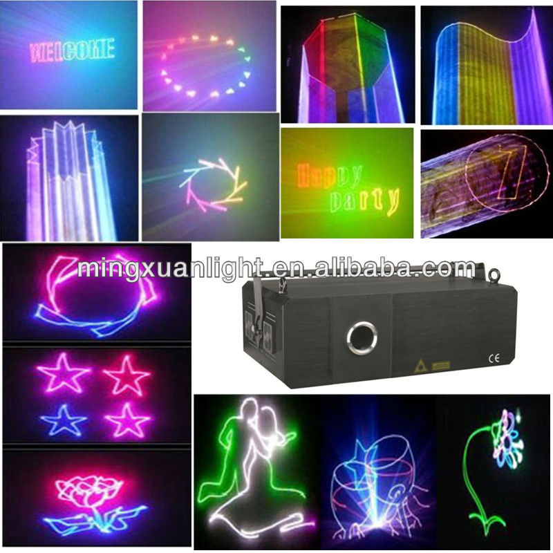 1-20w rgb text laser projector