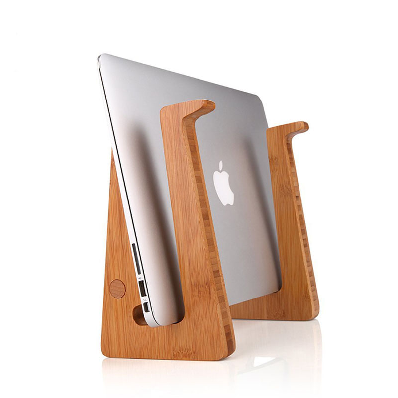 Simple Special Shaped Holder Bamboo Computer Laptop Stand
