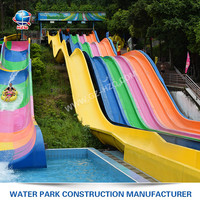 Fast delivery exciting curves most popular water slide rides