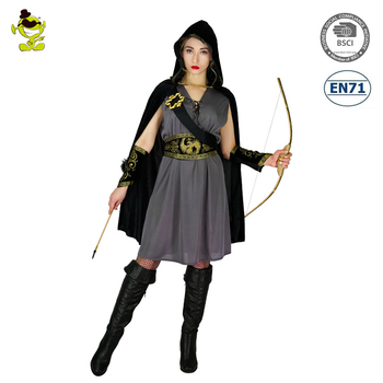 Hot Anime Halloween New Adults Women Robin Huntress Cosplay Costume