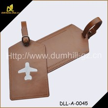 Hot Sell Wholesale PU Leather Luggage Tag In Brown