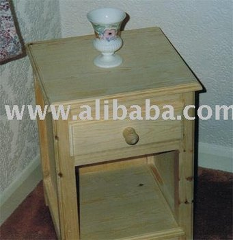 Home Bedside Cabinet - Constructed in Solid Pine with a fine wax finish.