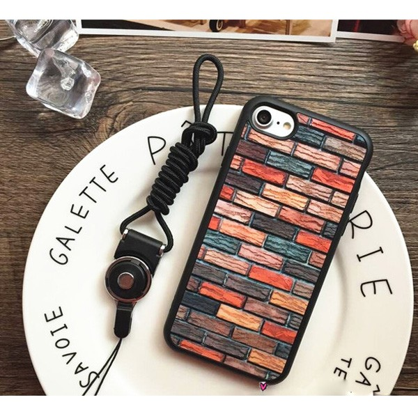 China Factory Durable Shockproof Case for iPhone 7,Non-Slip Brick Design Hard Cover for iPhone 7