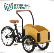 2015 hot sale fashion bicycle single speed 3 wheels cargo kids bike / cargobike/tricycle cargo bike/bakfiets UB9035 for children